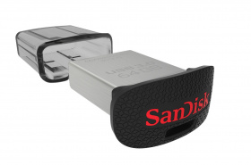 Флеш Диск Sandisk 64Gb Ultra Fit SDCZ43-064G-GAM46 USB3.0 черный [код:Е2790]